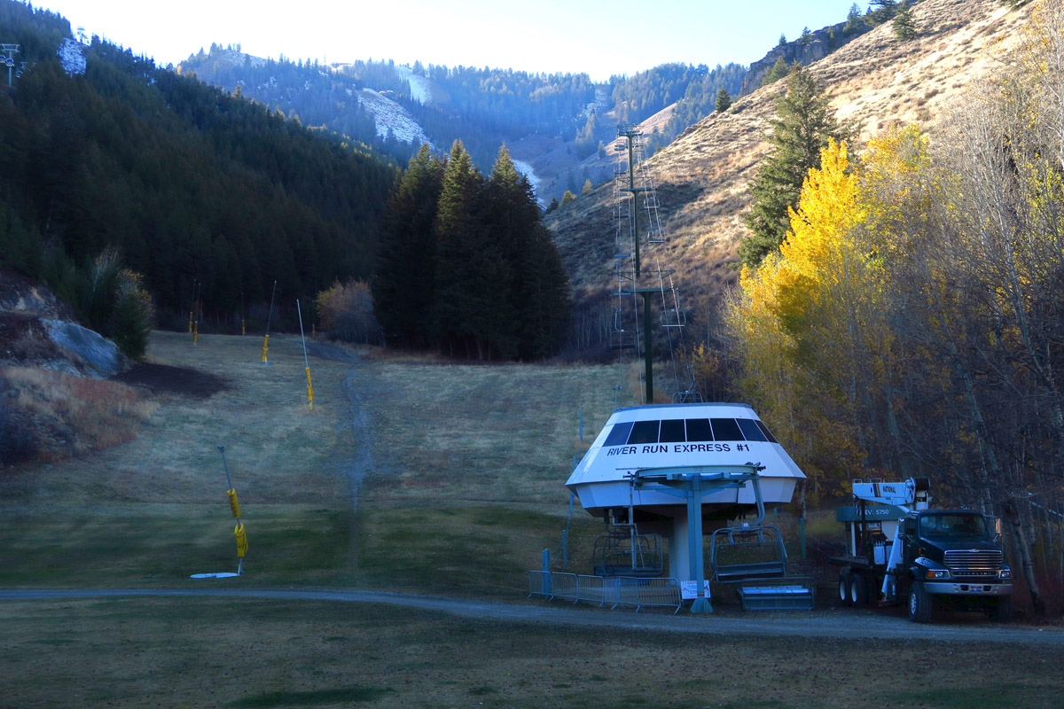 One lift is running for tourists...too early for skiers.