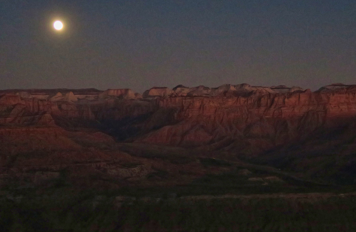 Moonrise from Monkey Mesa.