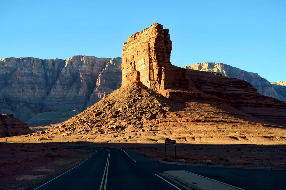 The drive into Lee's Ferry Campground from Marble Canyon is surprisingly beautiful!
