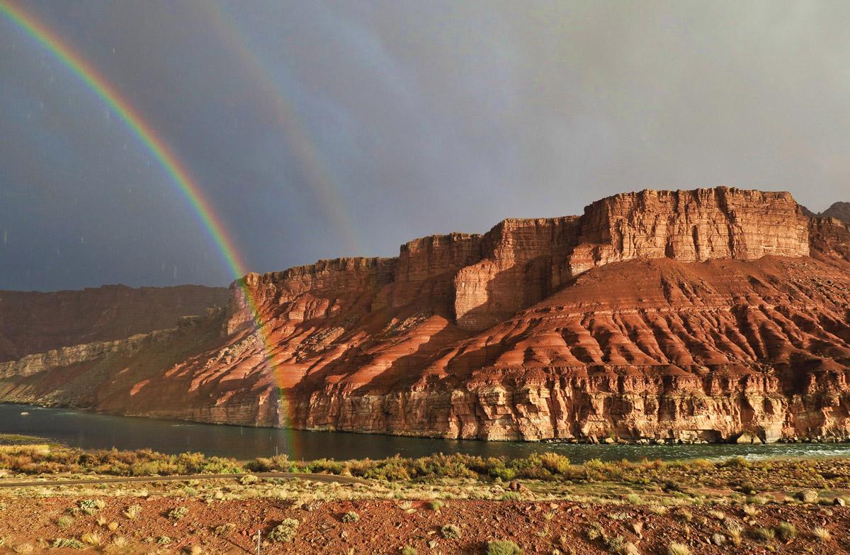 Rainbow over Lees Ferry