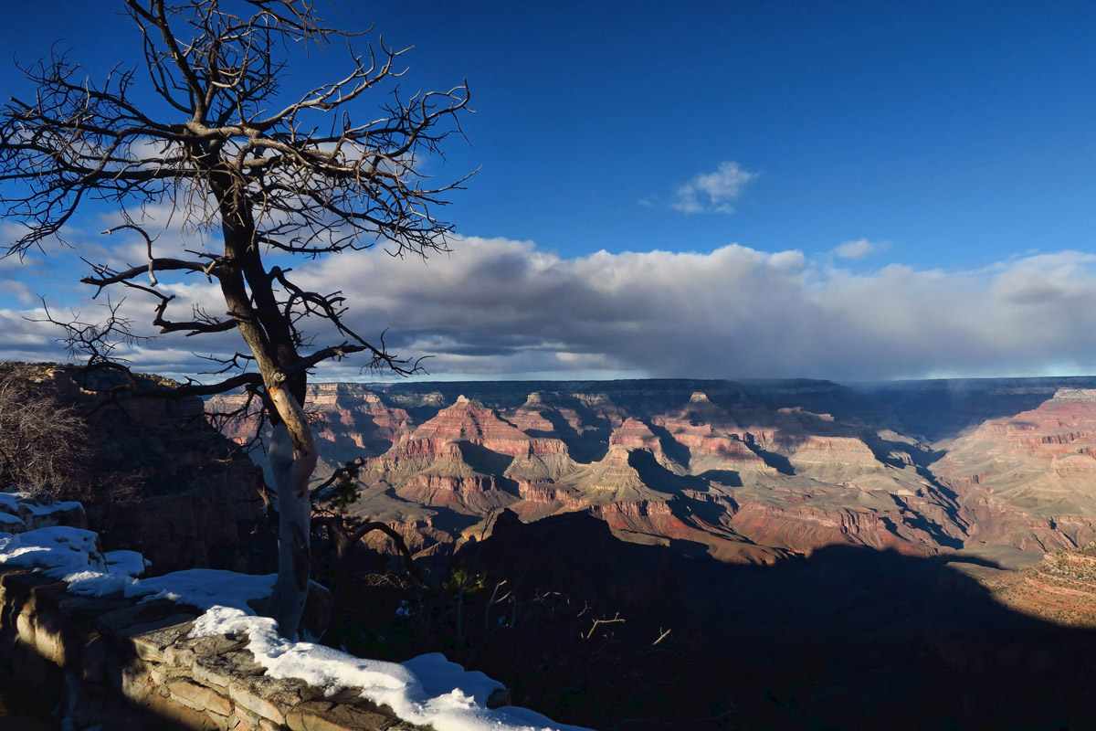 Getting a glimpse of Winter at the South Rim