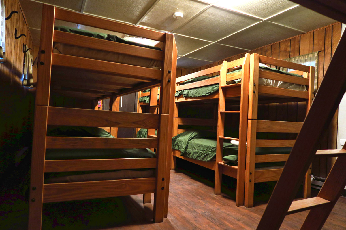 Woman's Dorm, 10 beds to a room.
