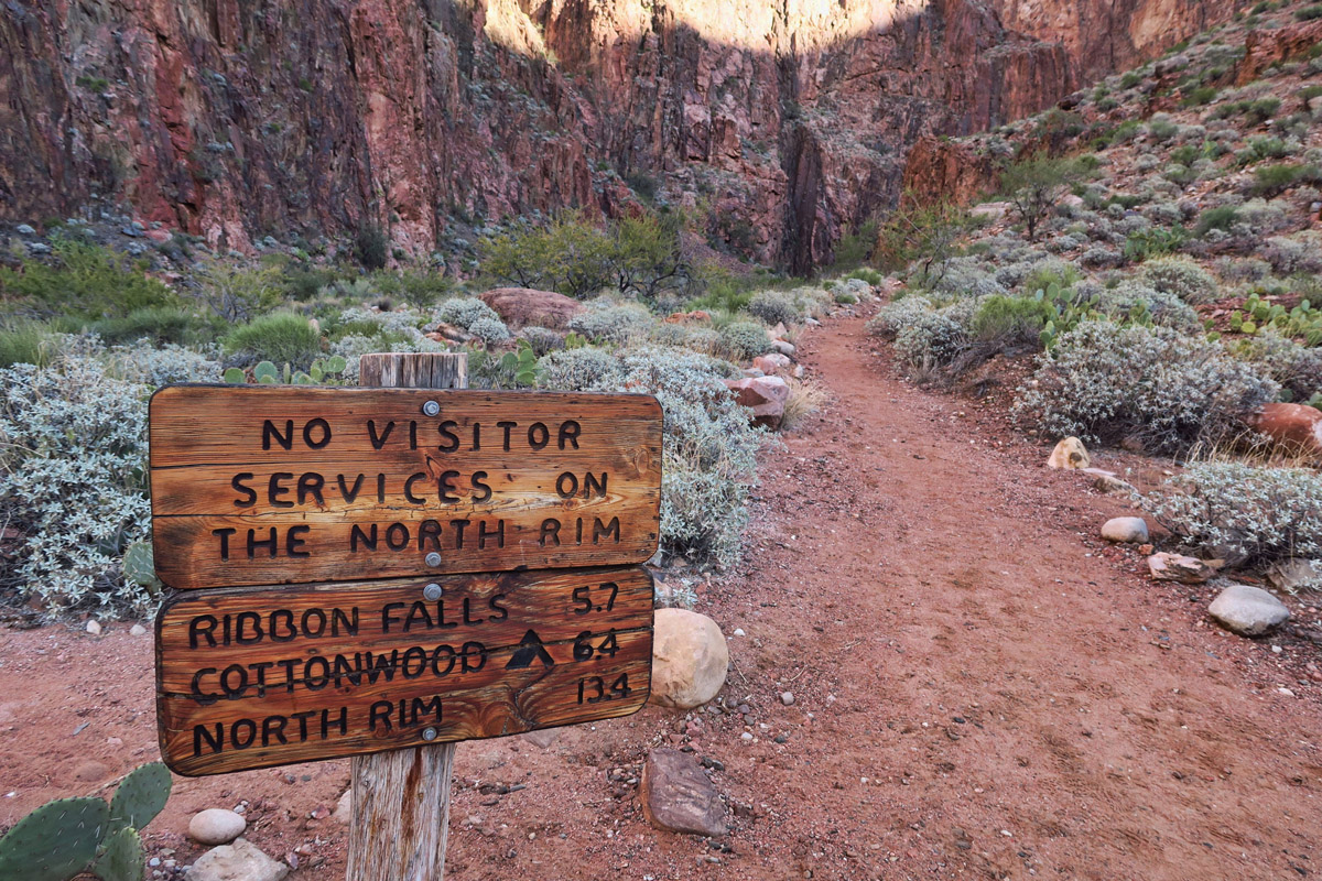 No services at the North Rim. Ranger Gaelyn has left the canyon...