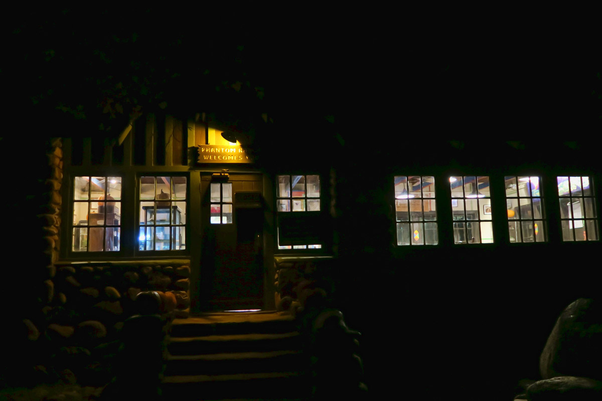 The Canteen in the cloak of darkness as I leave for the trail.