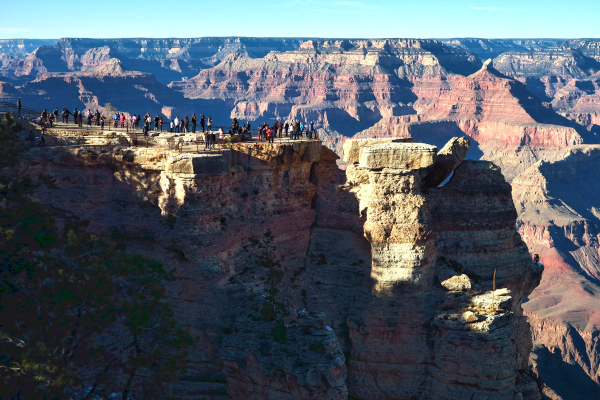 Mather Point, from the Visitor Center.