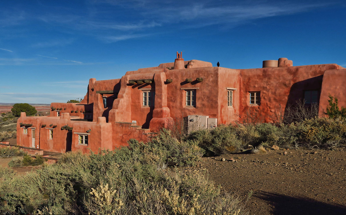 Beautifully restored Painted Desert Inn, originally built near 1920.