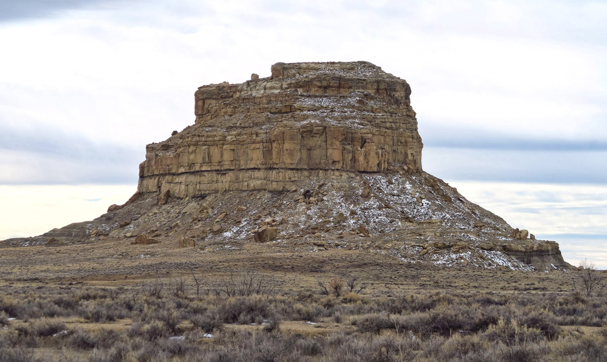 Fajada Butte has an ancient manmade ramp, now closed due to erosion.