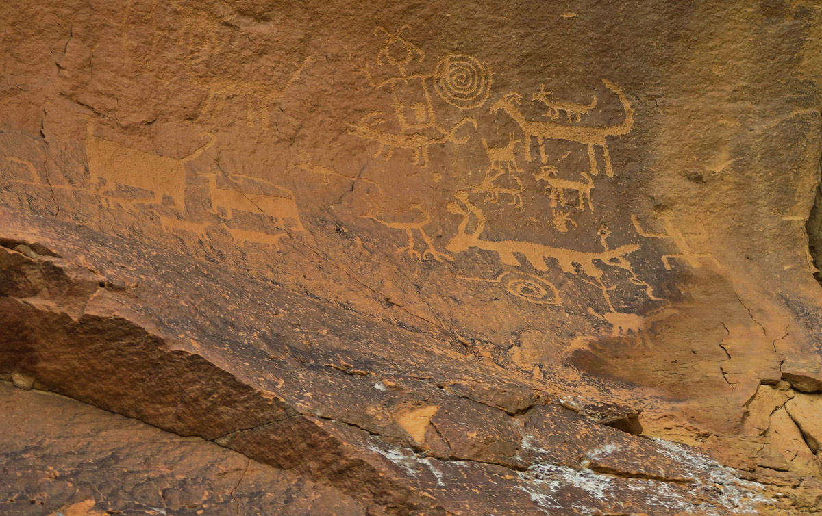One of the many petroglyph panels, this one near Una Vida site.