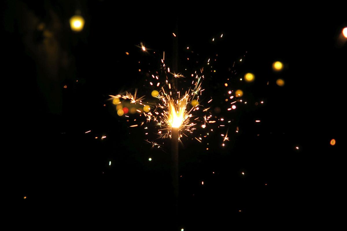 My sparkler in action.