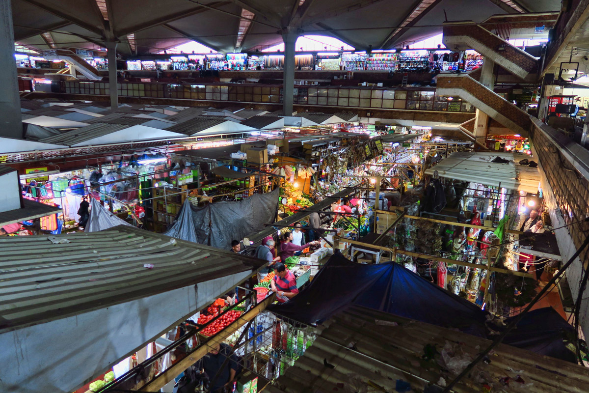 Mercado Libertad, the largest indoor market in Latin America.