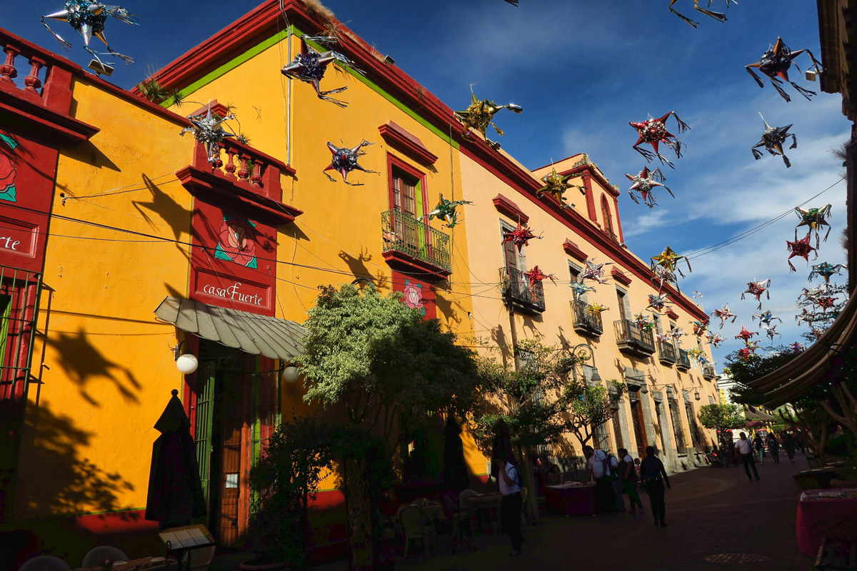 Casa Fuerte, one of the more well known restaurants along this street.
