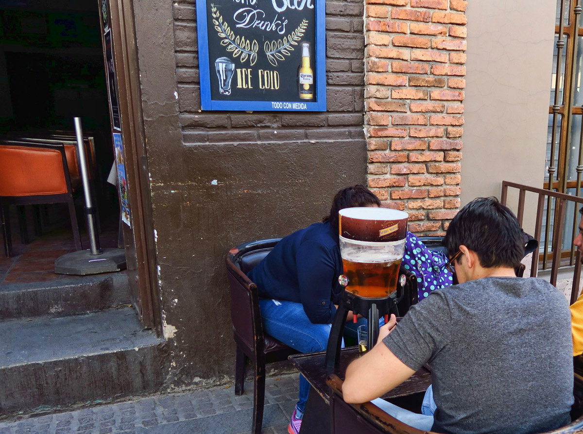 "This ""mini-keg"" is Mexico's version of a pitcher of beer."