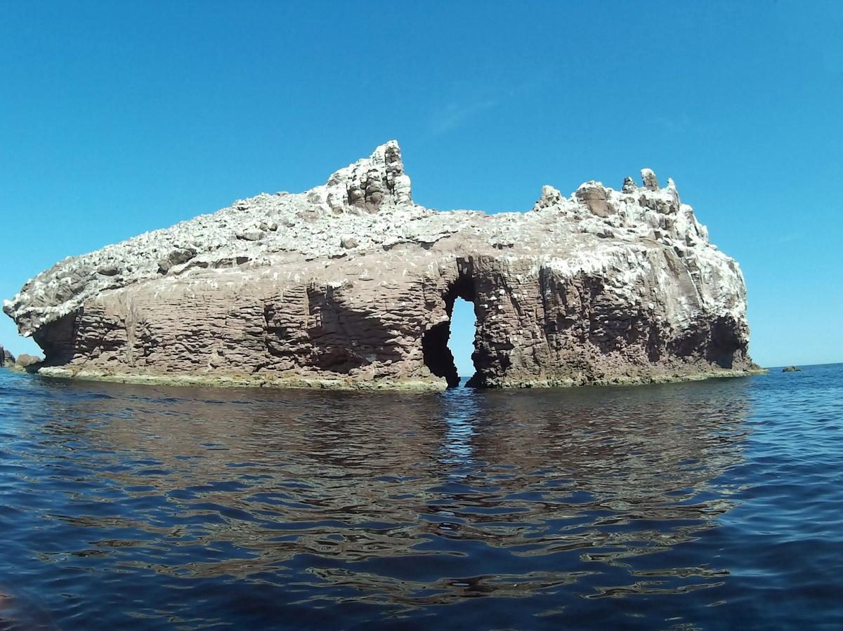 The arch at Isla Espiritu de Santo
