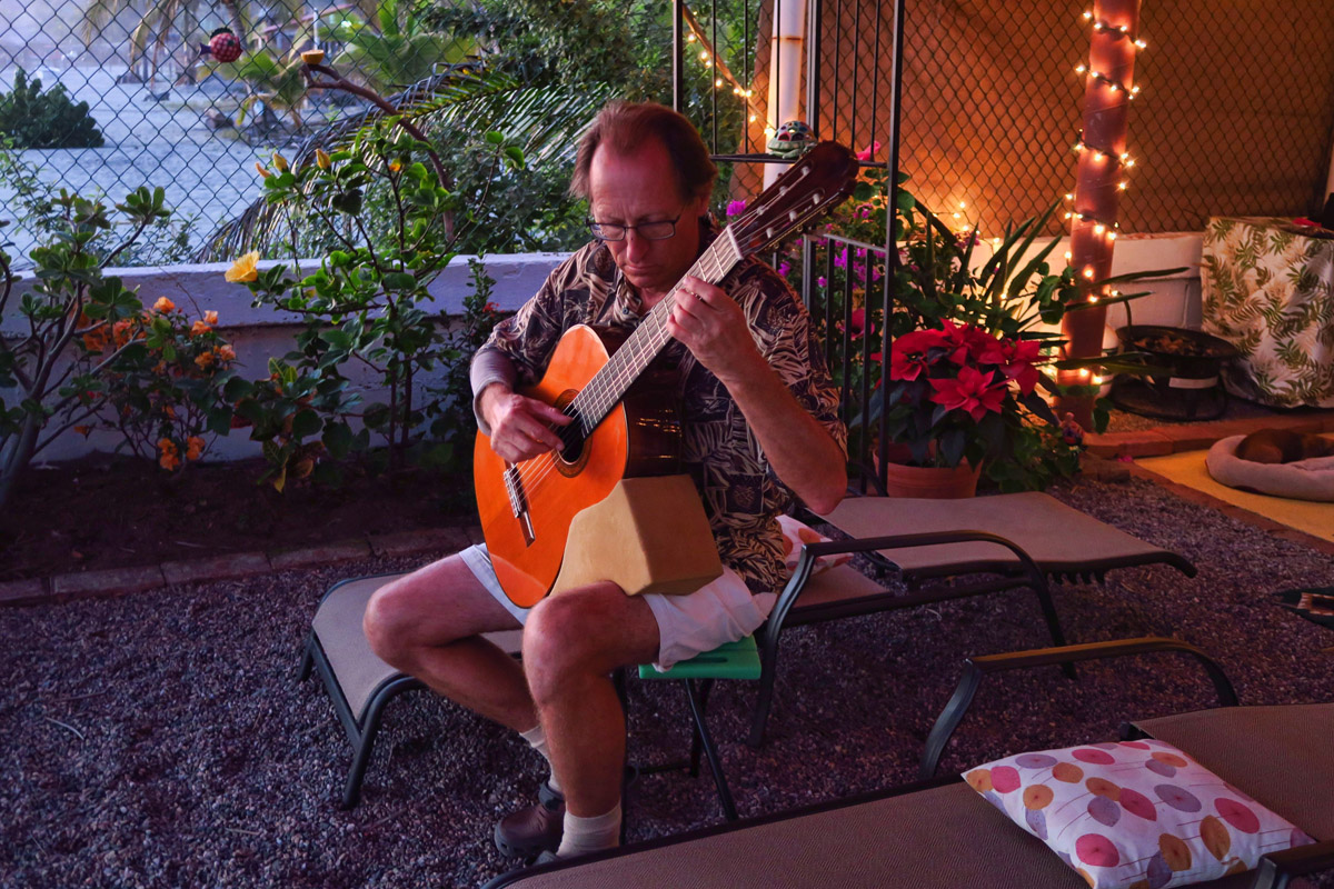 Our entertainment for the evening...Colin is a master on the Classical Guitar.