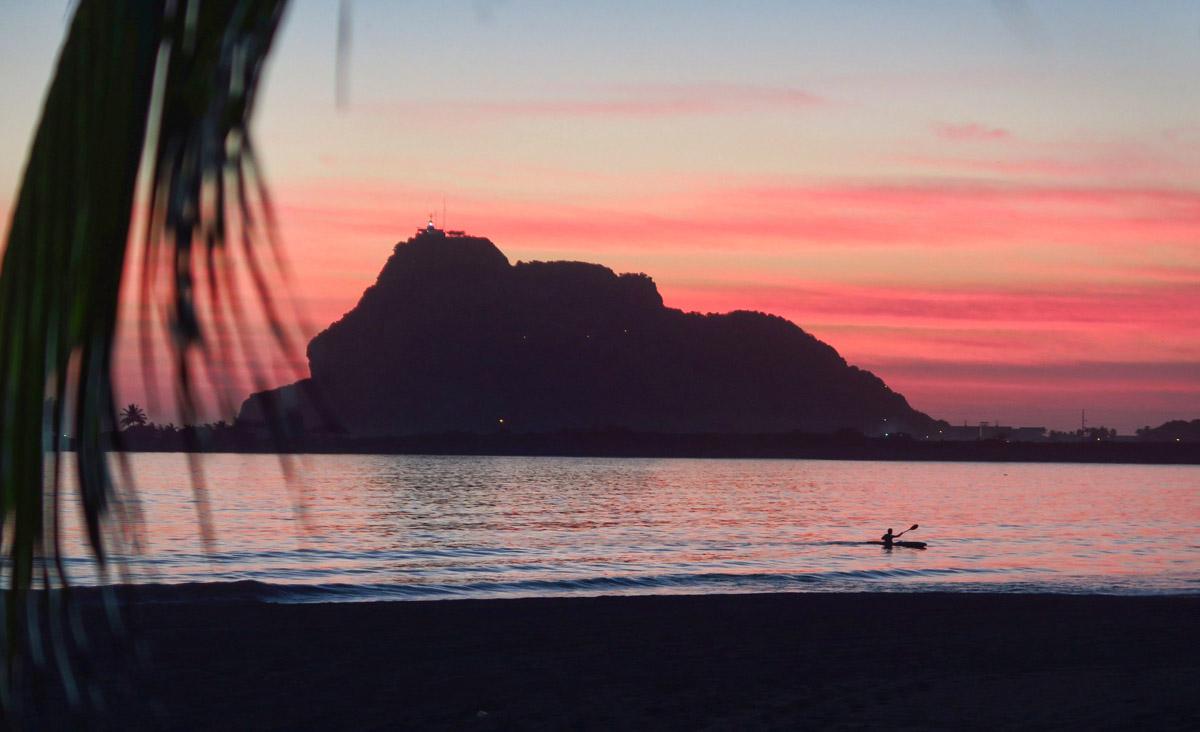 El Faro at sunset...