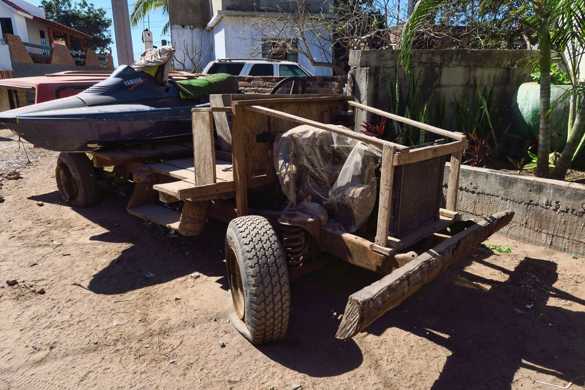 "This car is made of wood! Contessa calls it the ""Beverly Hillbillies truck."""