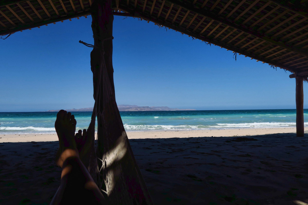 The cost of a beer (25 pesos, or $1.25) includes a nap in the hammock under the palapa.