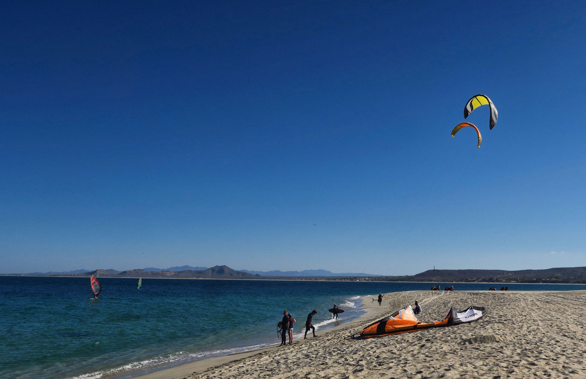 Los Barriles is a kite boarding and wind surfing haven.