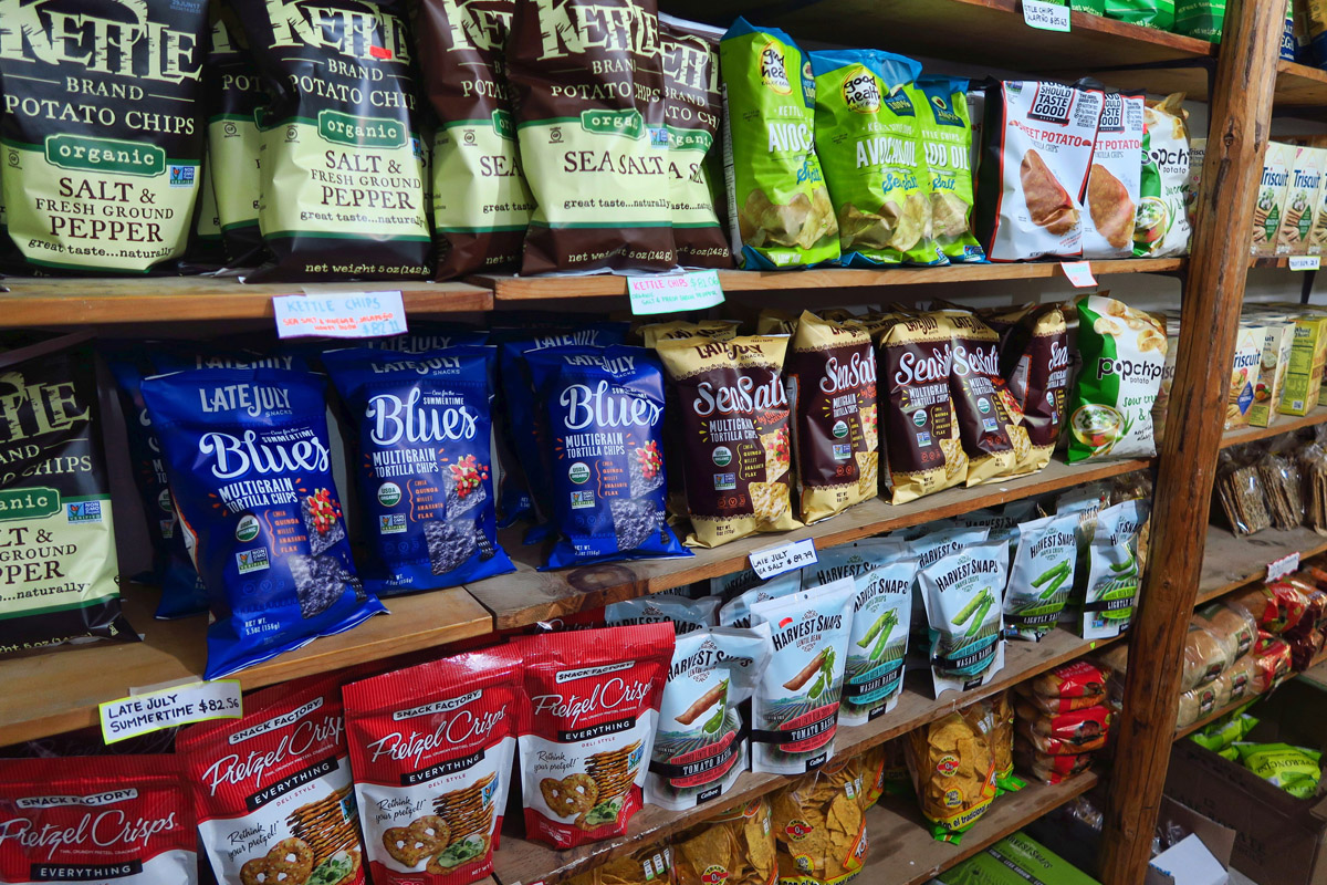 """Los Barriles idea of a """"gourmet market."""" More like the chip aisle at a 7-11."""