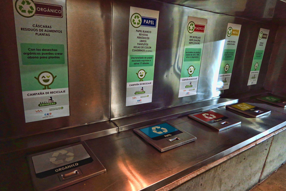 Check out this modern recycling station.