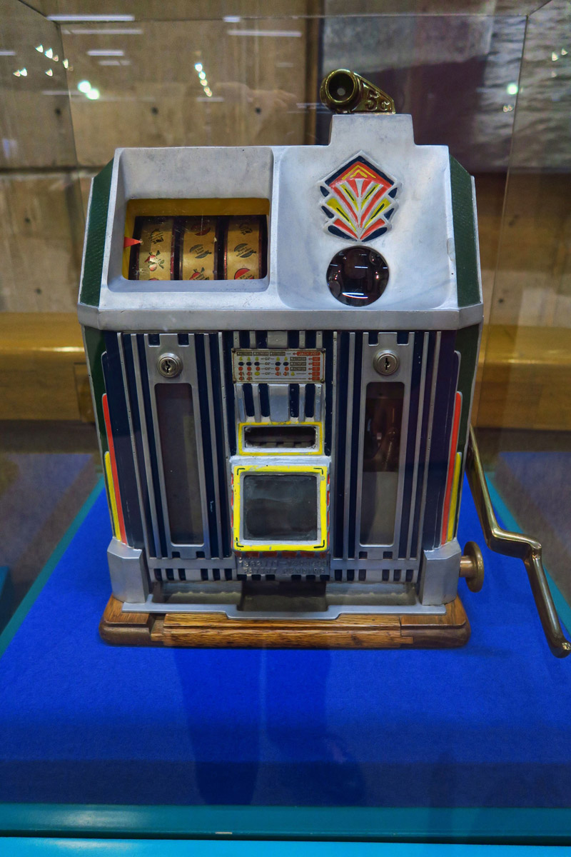 In the museum is a prohibition-era slot machine left over from one of Tijuana's casinos.