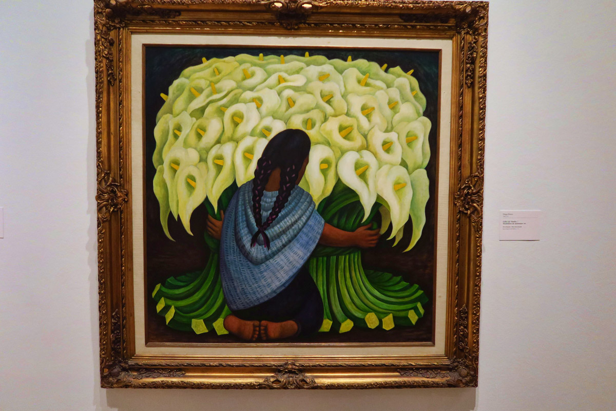 """Calla Lily Vendor"" by Diego Rivera, 1942."