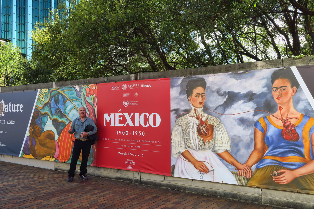 Don, Hannah and I visit the Frida Kahlo special exhibit at the Dallas Museum of Art.