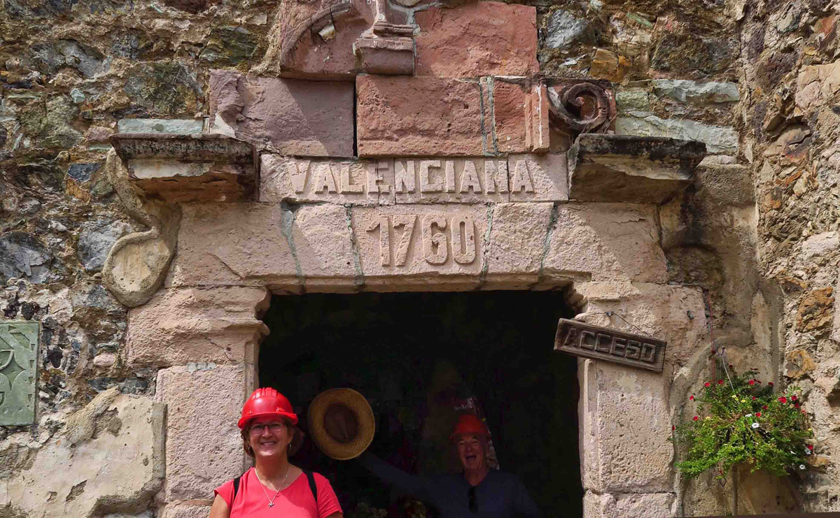 At the entrance to the mine (photobombed by classmate.)
