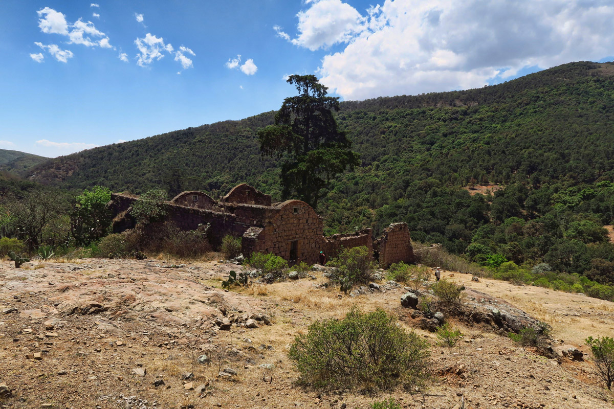 We go off trail to explore what appears to be an abandoned hacienda.
