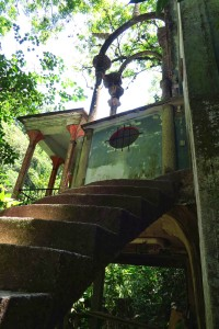 This is one of the few staircases that actually leads someplace, to the Mirador or lookout.