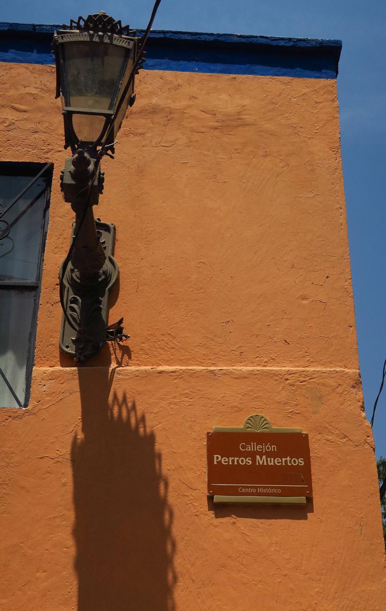 Callejon Perros Muertos, or Dead Dog Street...gotta laugh.