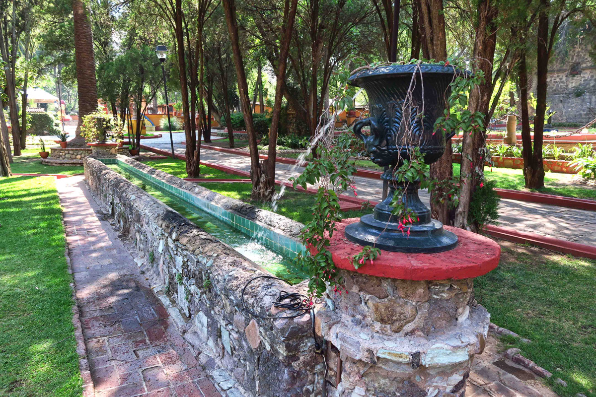 These long trough-like fountains are believed to have been for watering the horses who were used in mining the ore.
