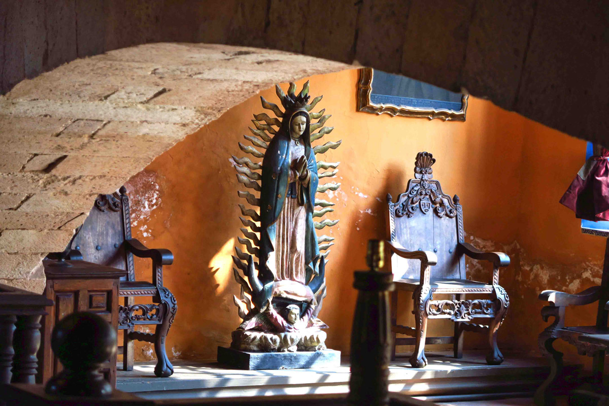 Statue of the Ubiquitous Virgin Guadalupe.