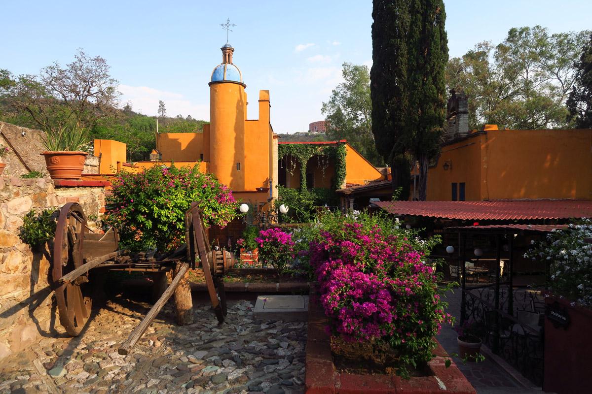 The grounds of Ex-Hacienda San Gabriel Barrera, built in the 17th Century.