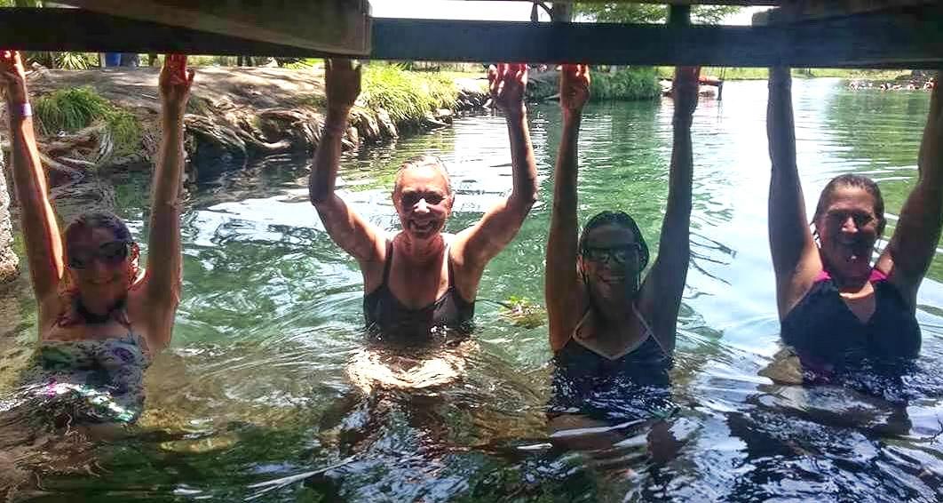 Hangin' under the bridge in the gentle flow. (Photo by Erik)