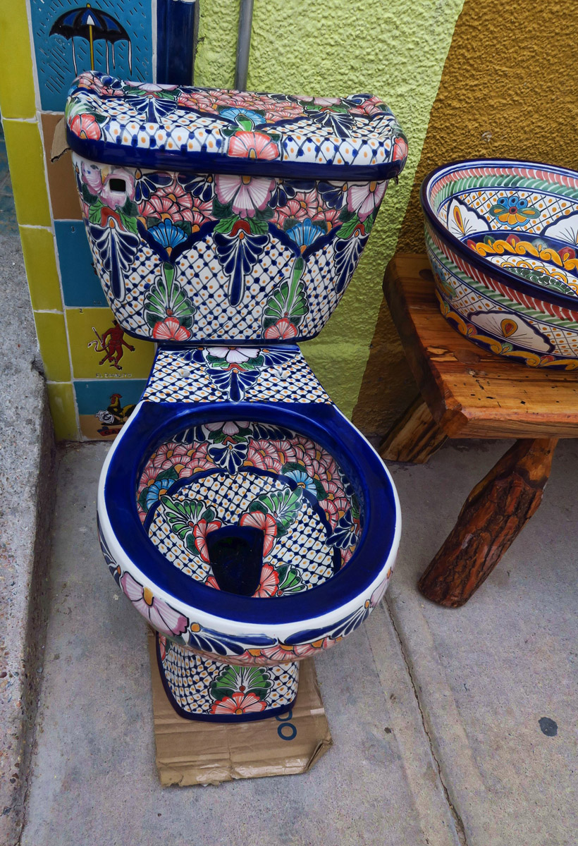 "This might be taking Mexican ""pottery"" a bit too far..."