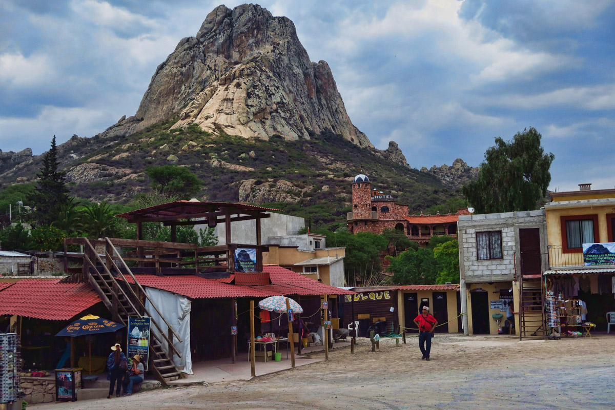 Bernal, Pueblo Magico or Magic Town, with world's third tallest monolith.