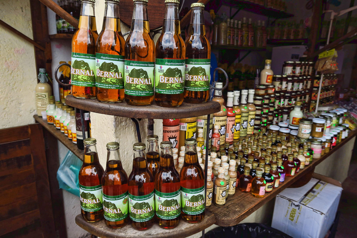 "Although Bernal is the ""gateway"" to the Sierra Gorda's wine region, there seems to be a lot of craft beer in the area. Wish I had bought this one just for the label!"