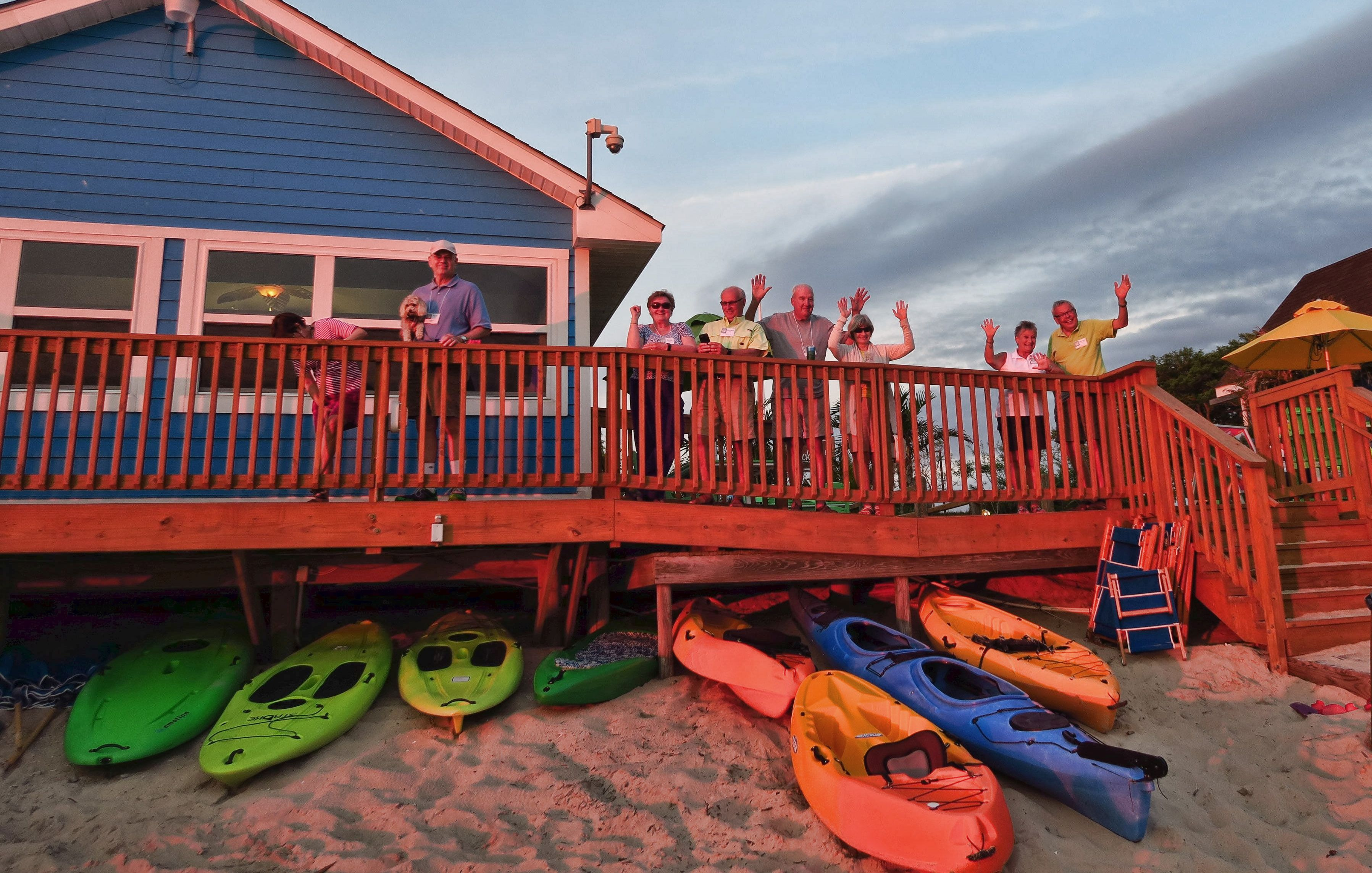 Sunset Beach RV Park has something for everyone, with kayaking, pool, and beachside restaurant.