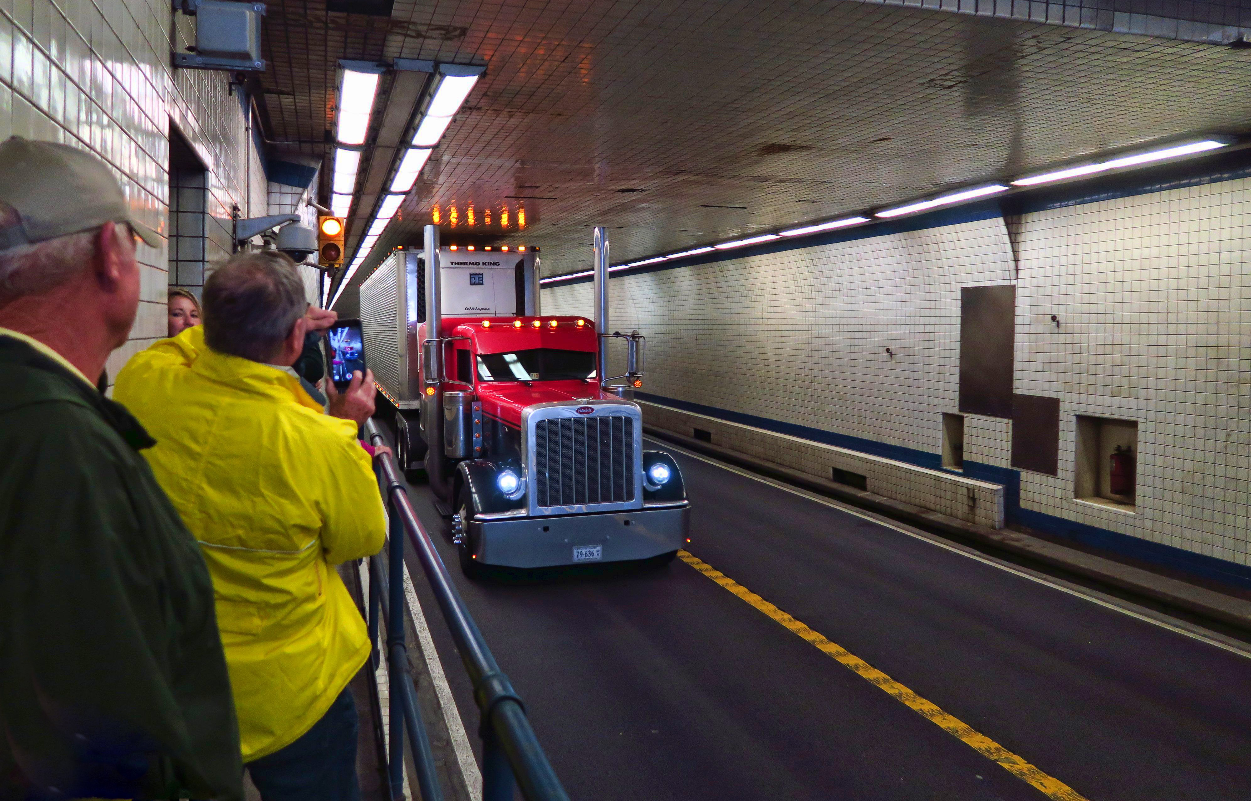 "On the tour, we get to enter the tunnel and act like kids again, signalling the truckers for a ""honk."""