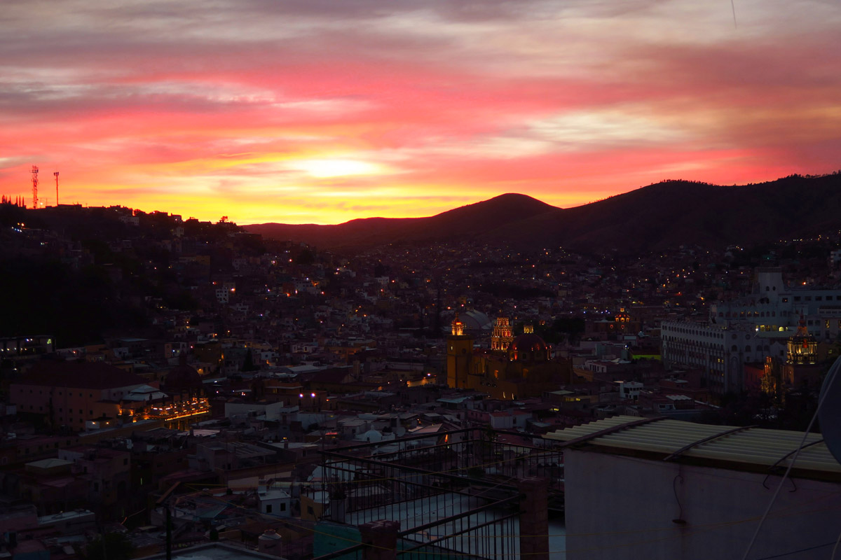 Even the beautiful sunsets I have enjoyed over the past two months from the balcony of the casa have gone...