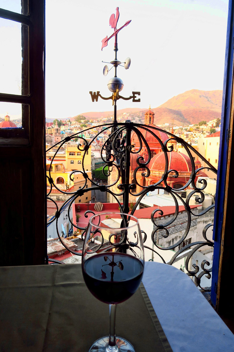 View from the Italian restaurant, El Gallo Pitagorico.