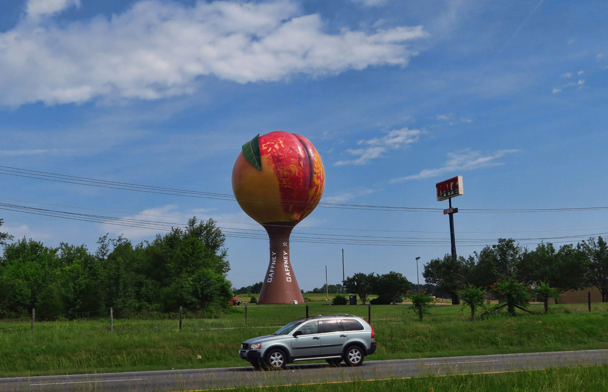 You know you're in the south when you see the Big Peach!