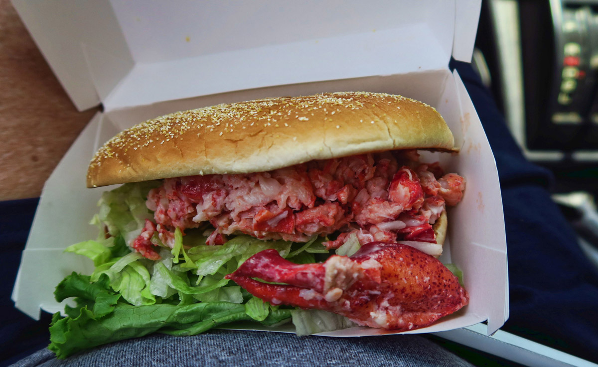 You know you're in the Northeast when McDonald's features a Lobster Roll on the menu. $8.99.