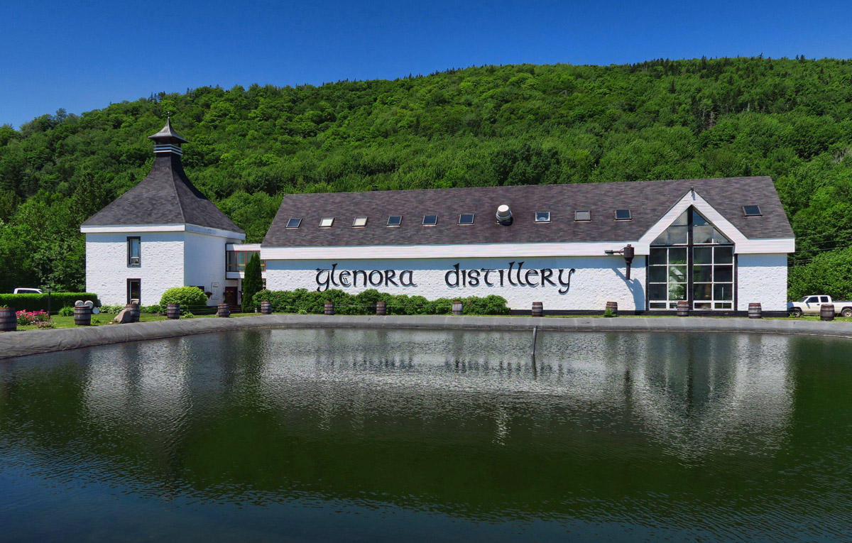 North America's oldest single malt whiskey is distilled here at Glenora Distillery.