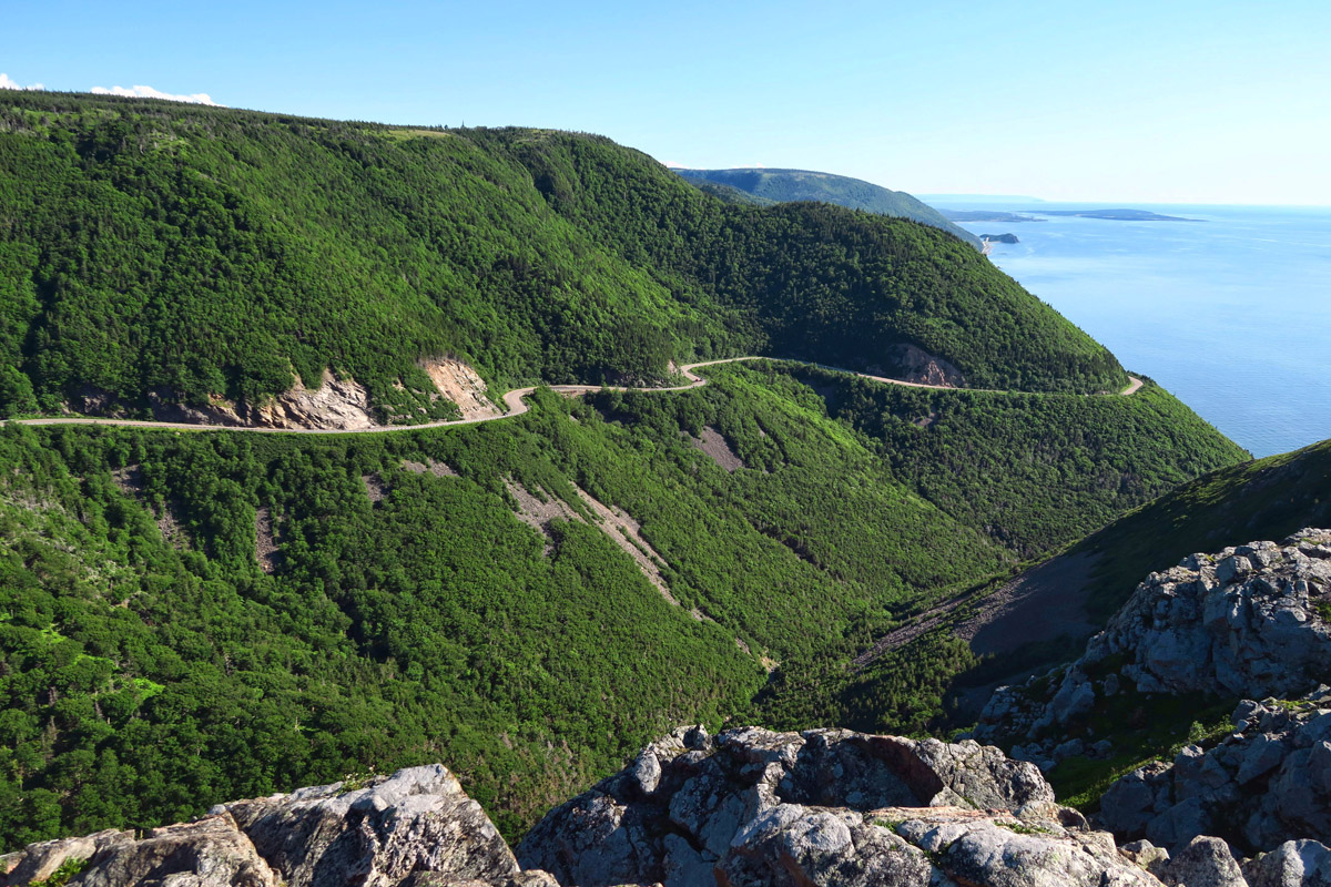 Looking back on the Cabot Trail.