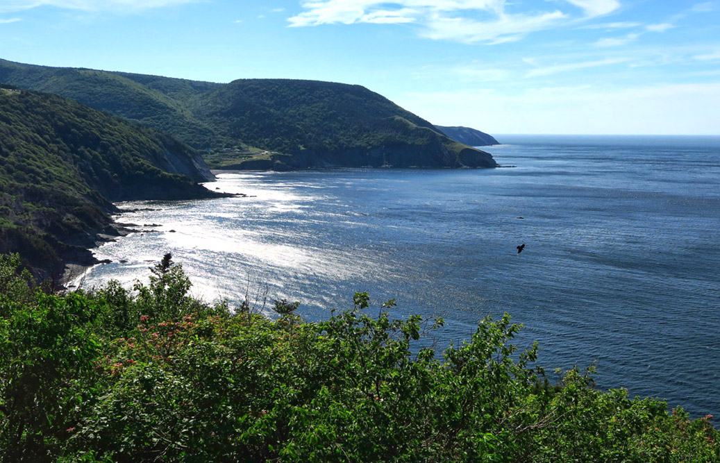 Meat Cove in the distance.