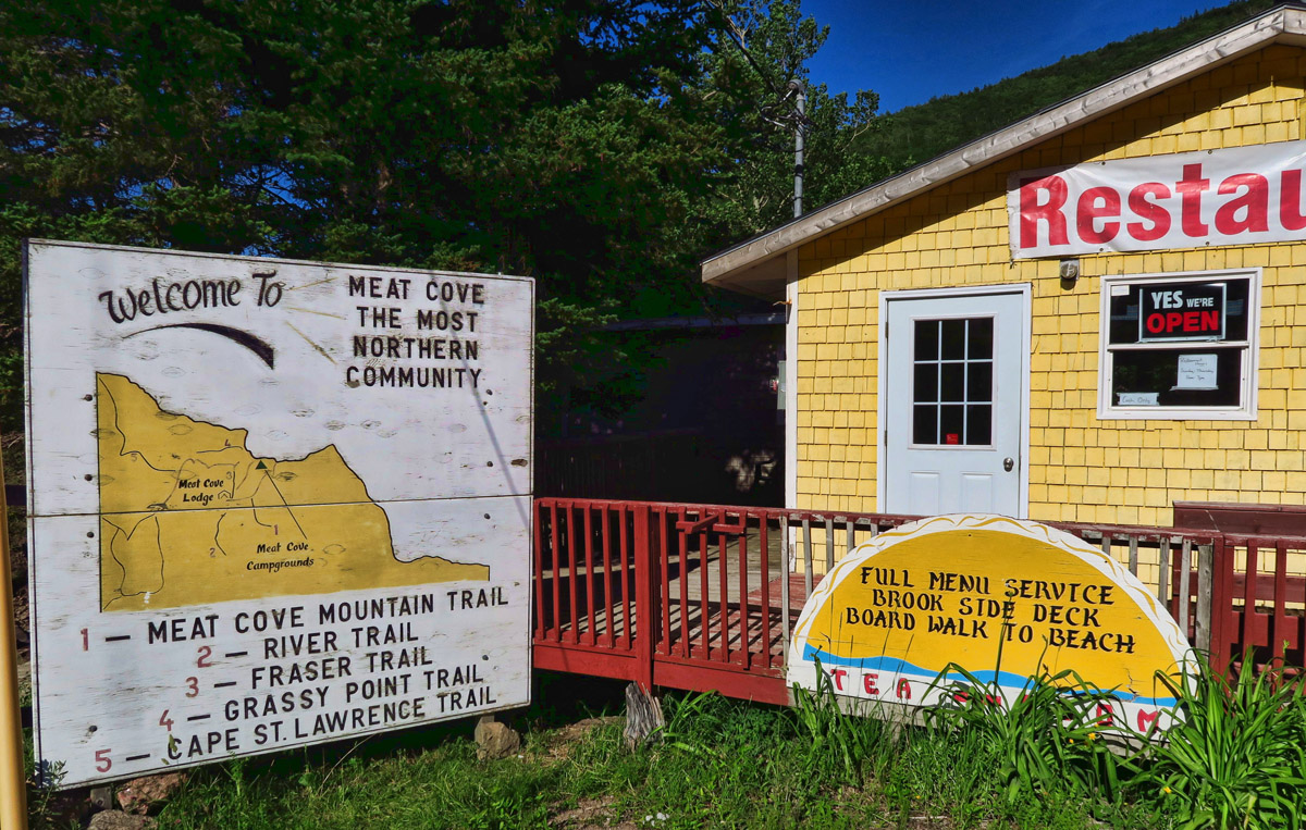 Meat Cove is Nova Scotia's northernmost settlement. I never did find out how it got it's name.