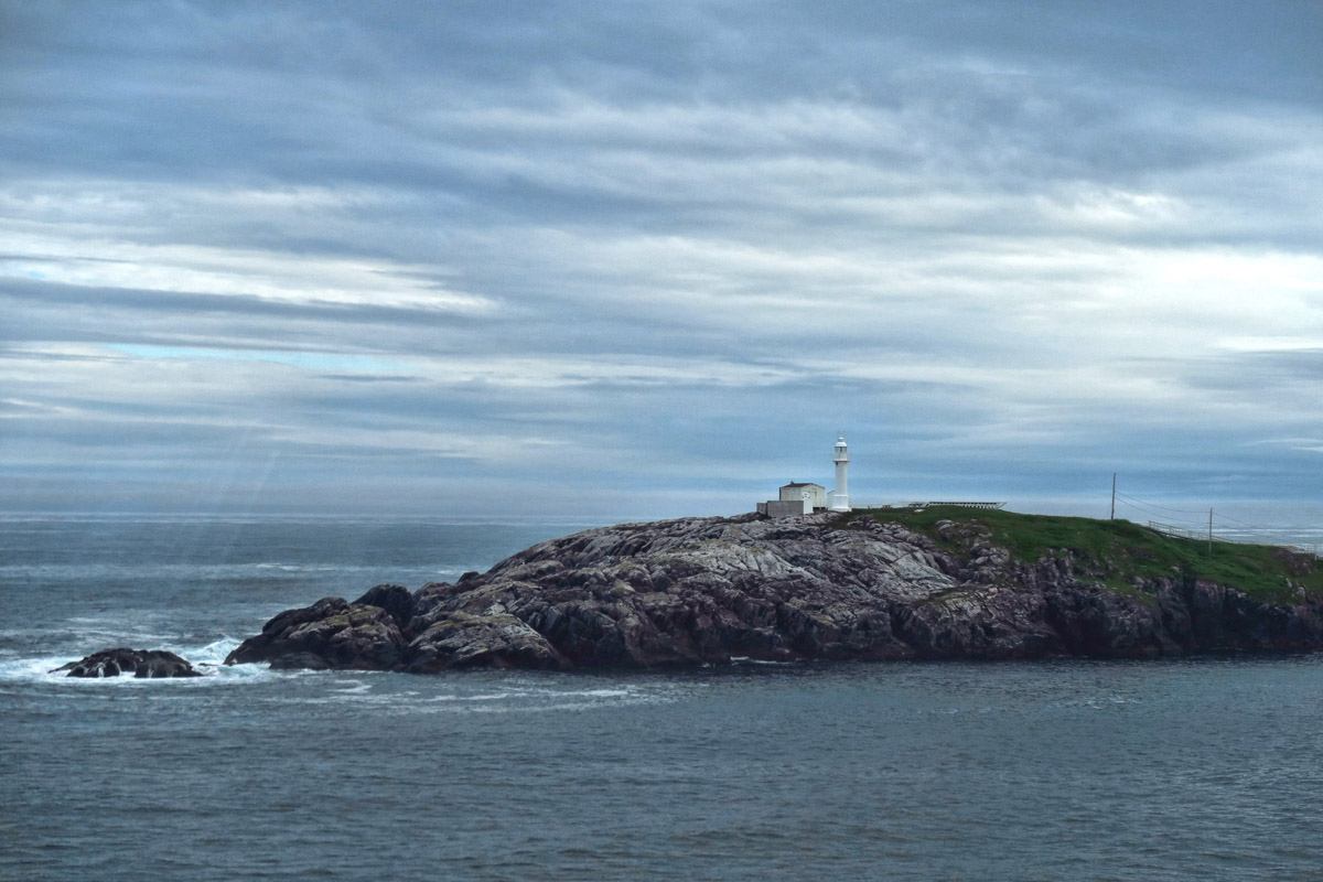 At first glance, Newfoundland looks very bleak and foreboding. Odd color for a navigational beacon!