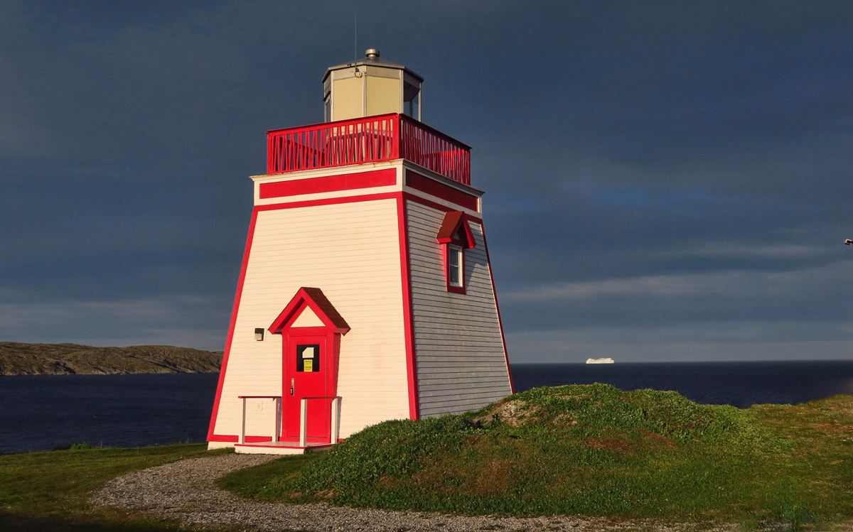 Fox Point Lighthouse. There have been many lights on this location dating back to 1912, but this light was erected in the early 1960's.